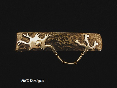 Amazing Opioid neuron tie clip for Dr  O'Brien1