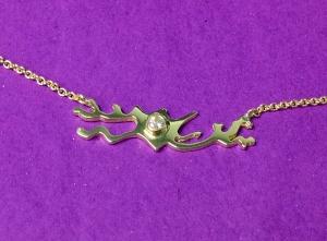 GoldenDelightNeuronNecklace